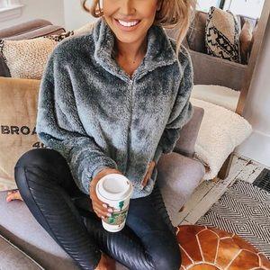 Express quarter zip fleece pullover!